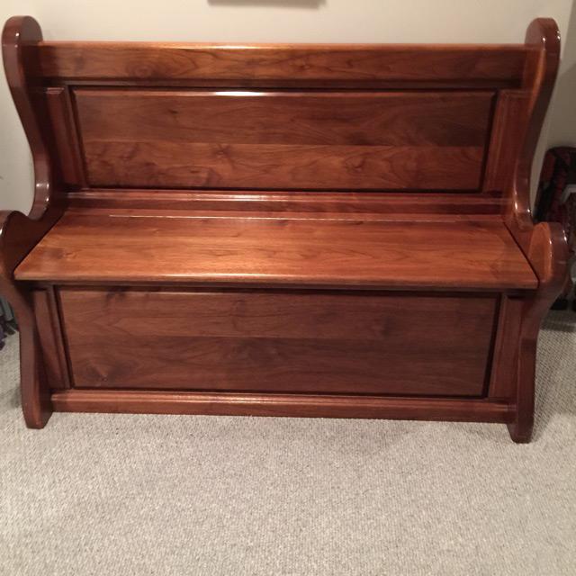 Black Walnut Deacons Bench Created 1985 Stl Custom